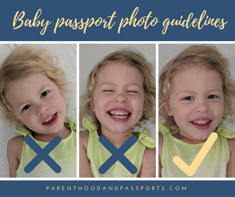 Baby Passport photo guidelines
