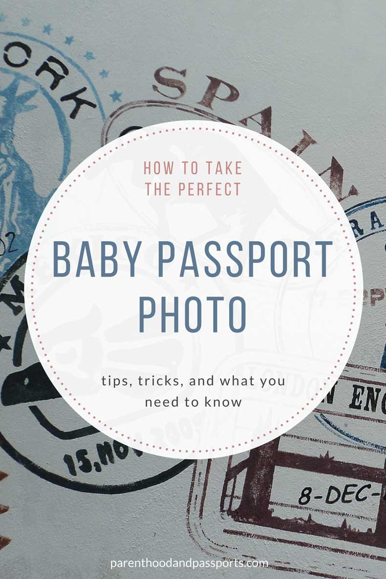 Taking an infant passport photo