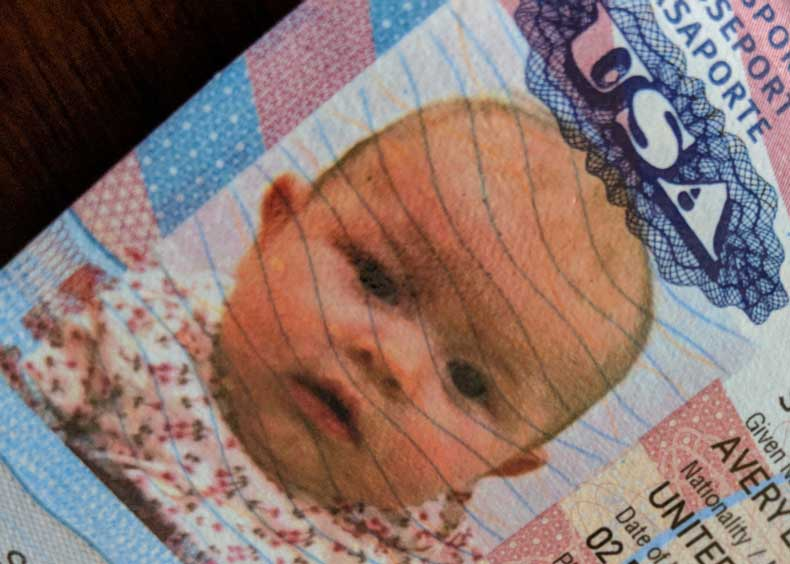 how to take a baby passport photo
