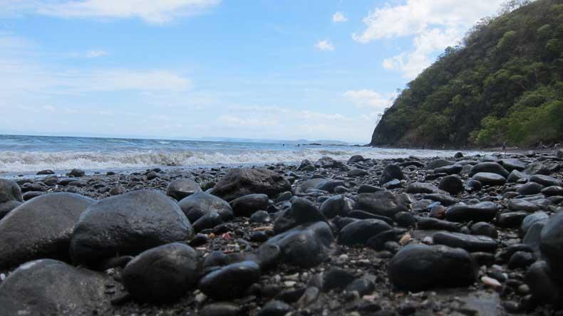 Black sand beach in Guanacaste Costa Rica