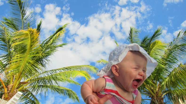 RIU Guanacaste - happy baby traveling