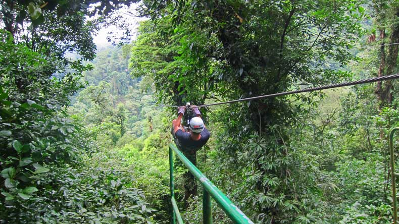 Parenthood and Passports- ziplining Costa Rica