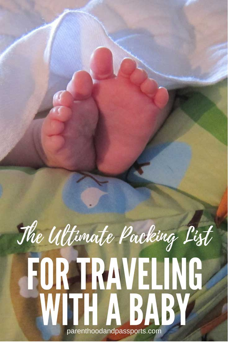 Packing list for travel with a baby