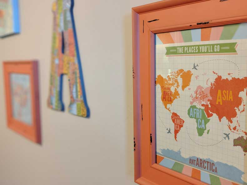 Travel-themed nursery - Parenthood and Passports