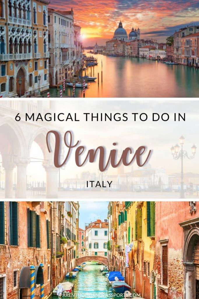 Planning a trip to Italy's city on water? Are are 6 unforgettable things to do in Venice, Italy to add to your itinerary, plus where to stay in Venice, how much time to spend in Venice, Italy, and travel tips for visiting Venice.