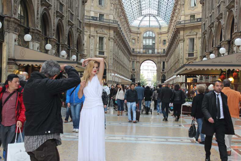 Milan itinerary 1 day - inside the Galleria Vittorio shopping center
