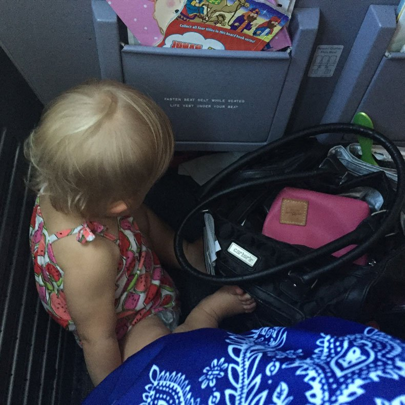 Carry-on essentials for a baby