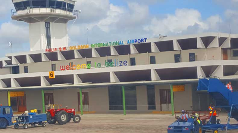 Belize airport where a Belize family vacation starts
