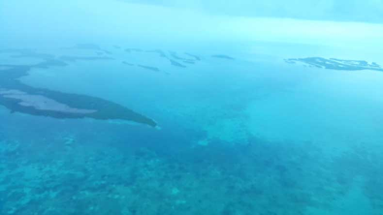 The Belize Barrier Reef, the second largest barrier reef in the world.