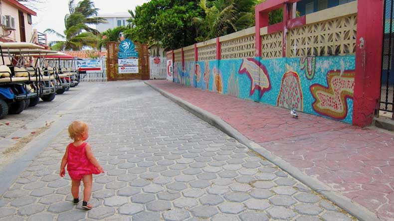 the streets of San Pedro Belize