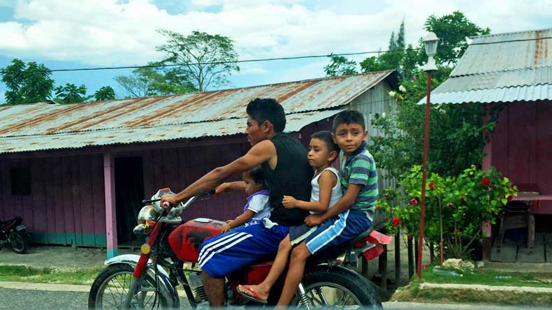 Weird laws in Guatemala and Belize - children on motorcycles and no helmets