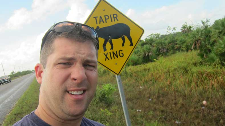 Weird things you'll see in Belize and Guatemala - road sign in Belize