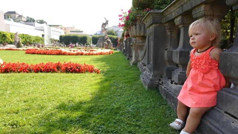 Mirabell Garden with children