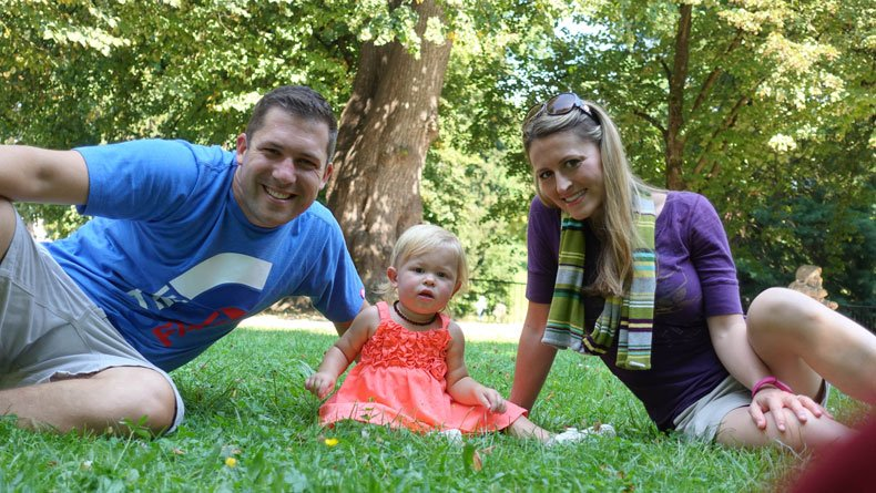 Mirabell Garden with kids