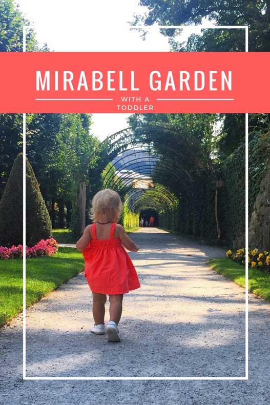 Mirabell Garden with a toddler