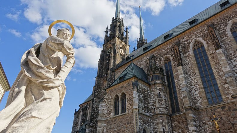things to do in Brno Czech Republic - cathedral of St. Peter and St. Paul
