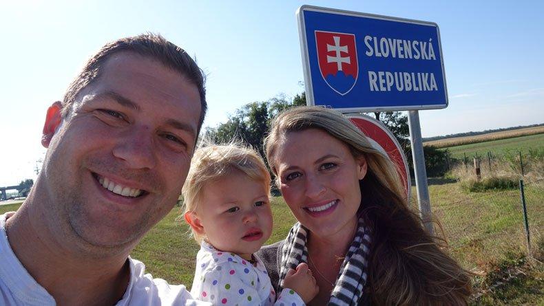Bratislava day trip from Vienna - Slovakian border