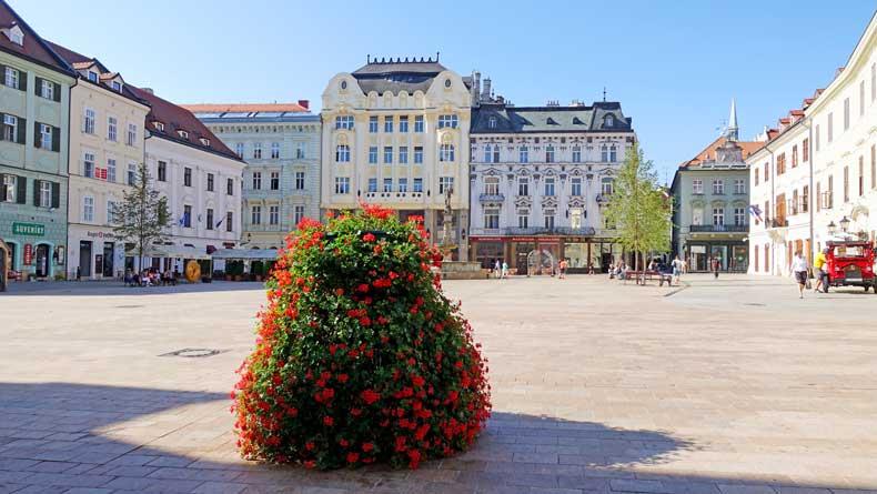 Bratislava Slovakia Old Town plaza