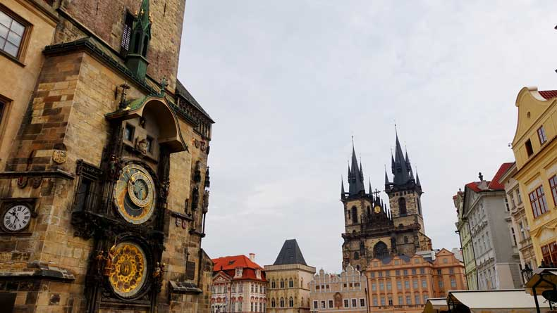 Prague, Czech Republic with kids - old town and astronomical clock are a must.