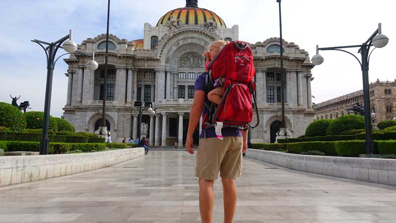Mexico City with kids - Palacio de Belles Artes