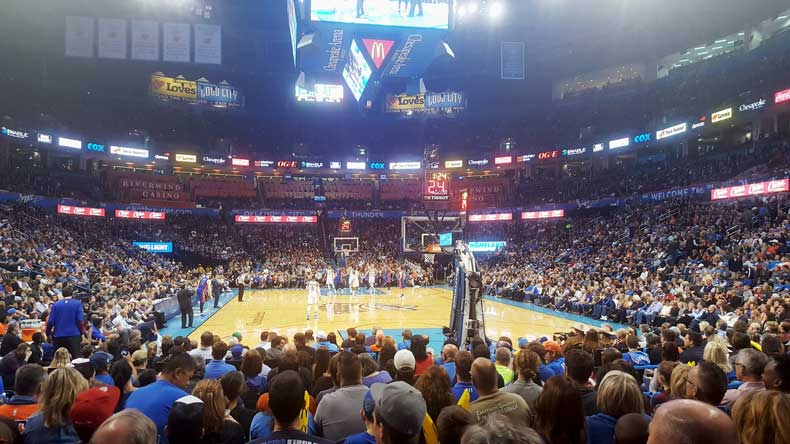 OKC Thunder game is a great activity for kids in Oklahoma City
