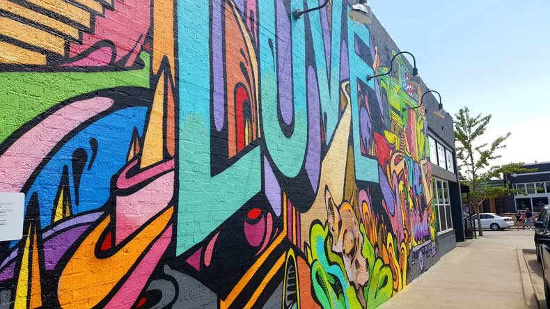 OKC mural in the Plaza District