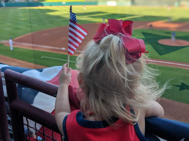 OKC Dodgers game- a great sports activity to do in OKC with kids