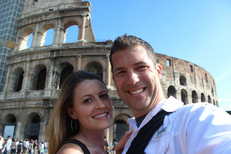 traveling with your spouse - rome