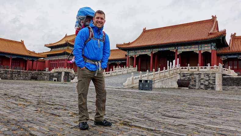 Visiting the Forbidden City during our one day in Beijing with kids