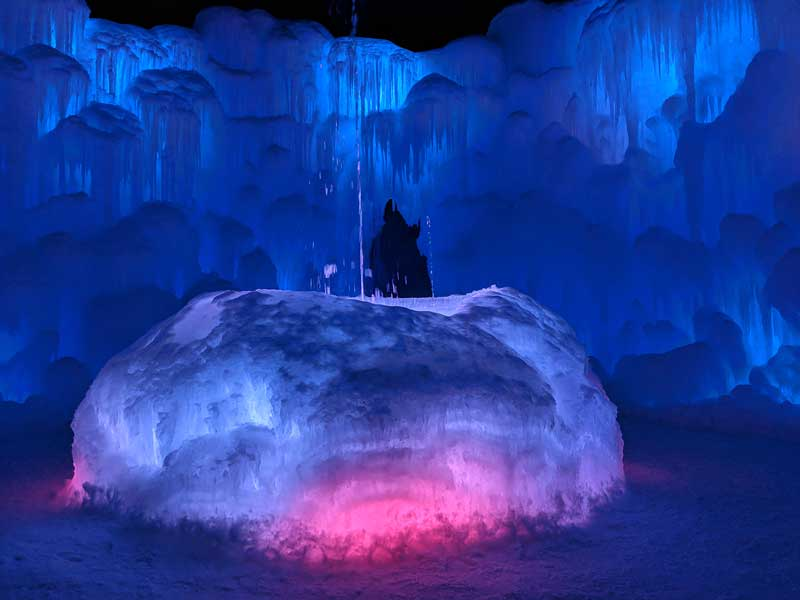 Lincoln Ice Castles fountain
