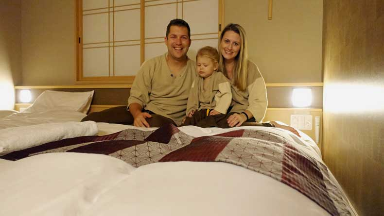 Japan with kids - family amenities in hotels