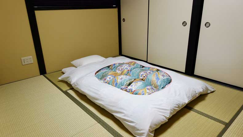 Where to stay Kyoto, Japan - Rinn Gion yasakamae futon room