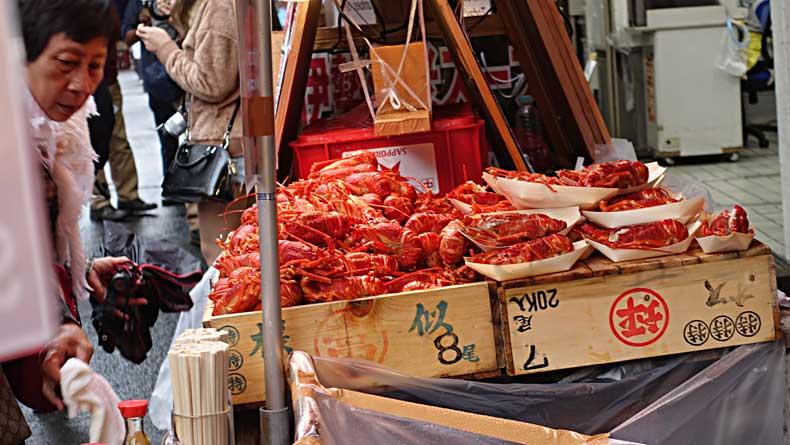 Tokyo with kids - fish market
