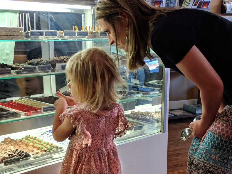 Best small towns in Oklahoma - Guthrie chocolate shop