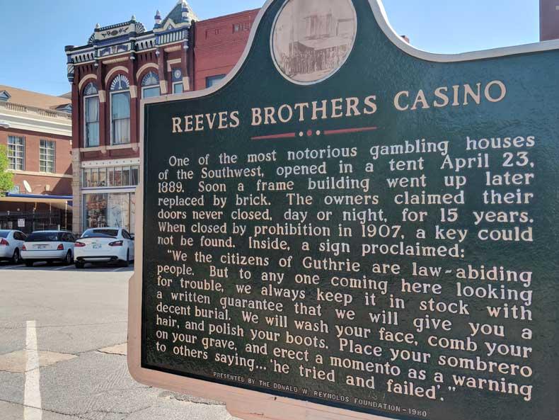 Guthrie Oklahoma history signs