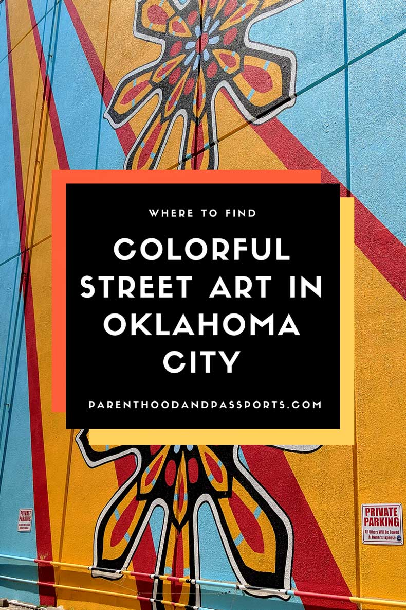 Colorful street art in Oklahoma City