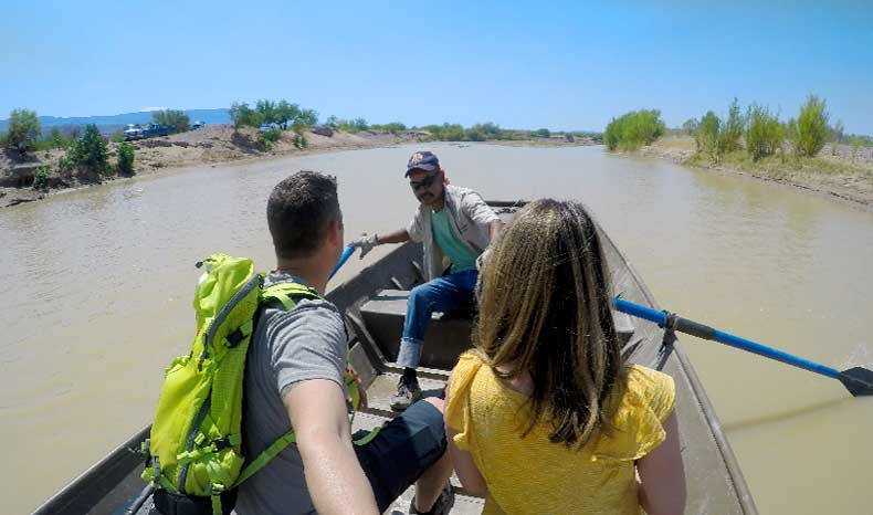 Boquillas Crossing Big Bend Rio Grande boat