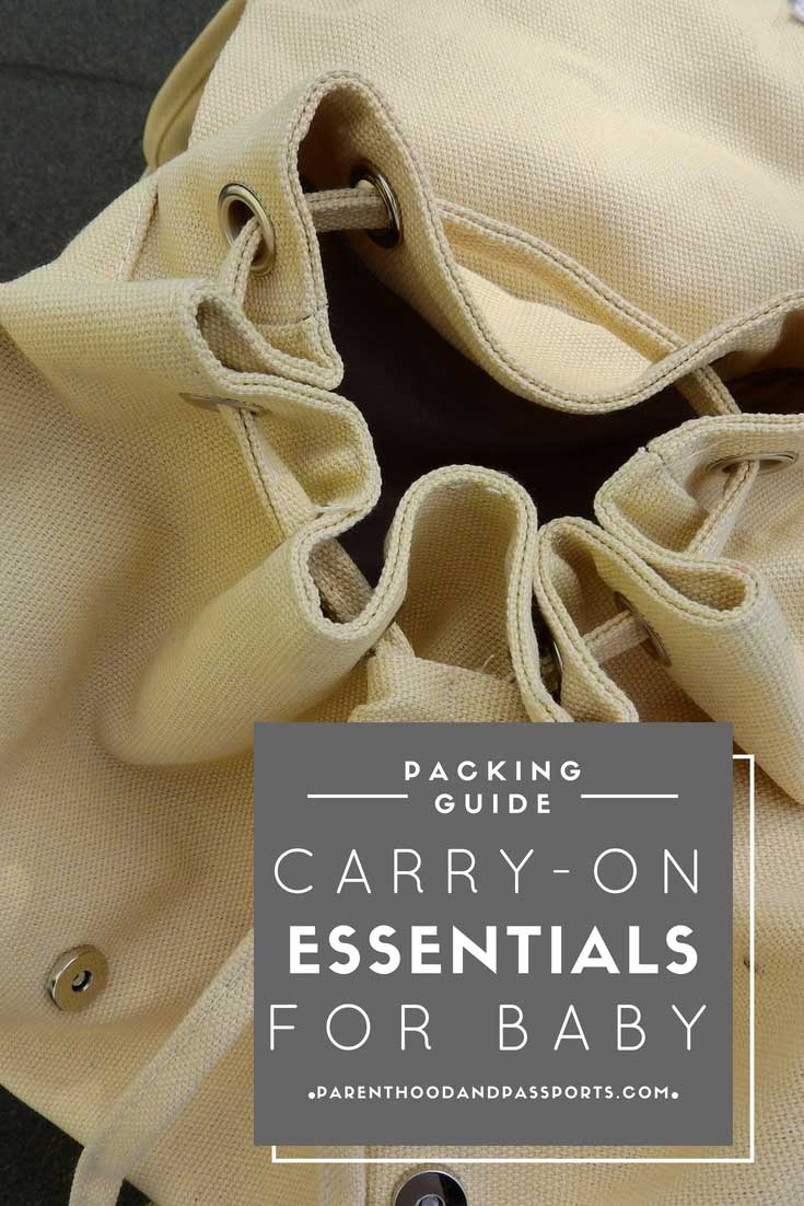 Carry-on packing guide for baby