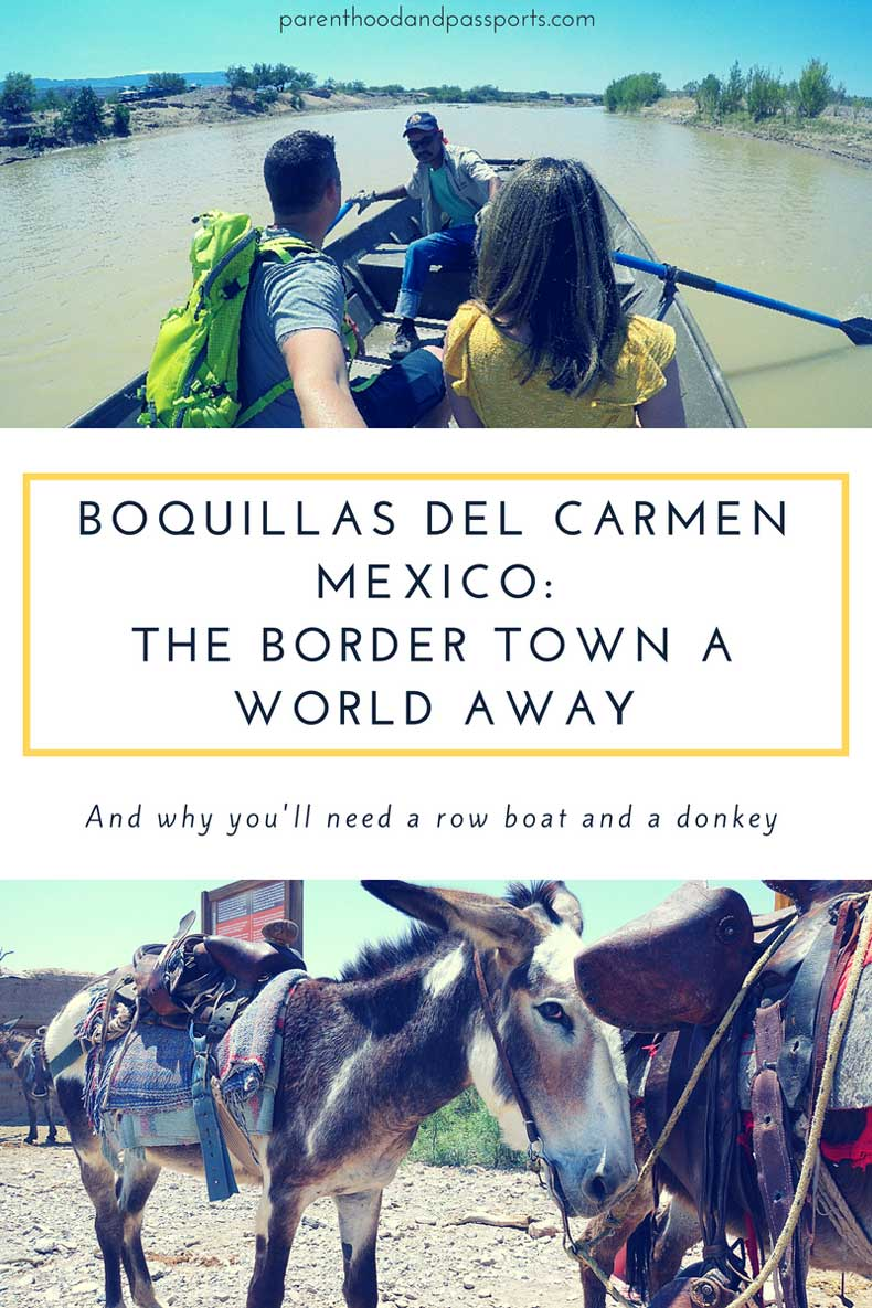 Crossing the border at Boquillas del Carmen
