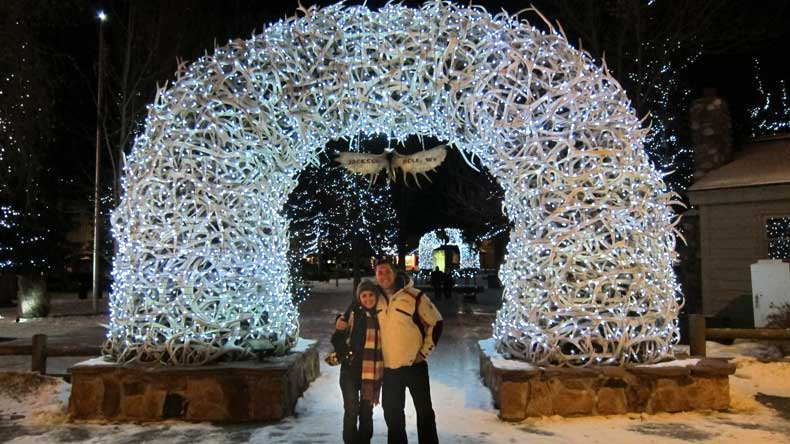 winter in Jackson Hole Wyoming
