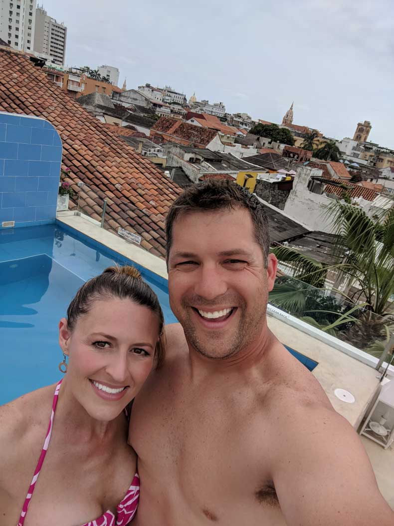 Things to do in Cartagena - roof-top pool
