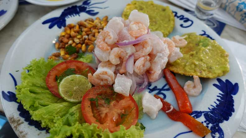 What to eat in Colombia -ceviche