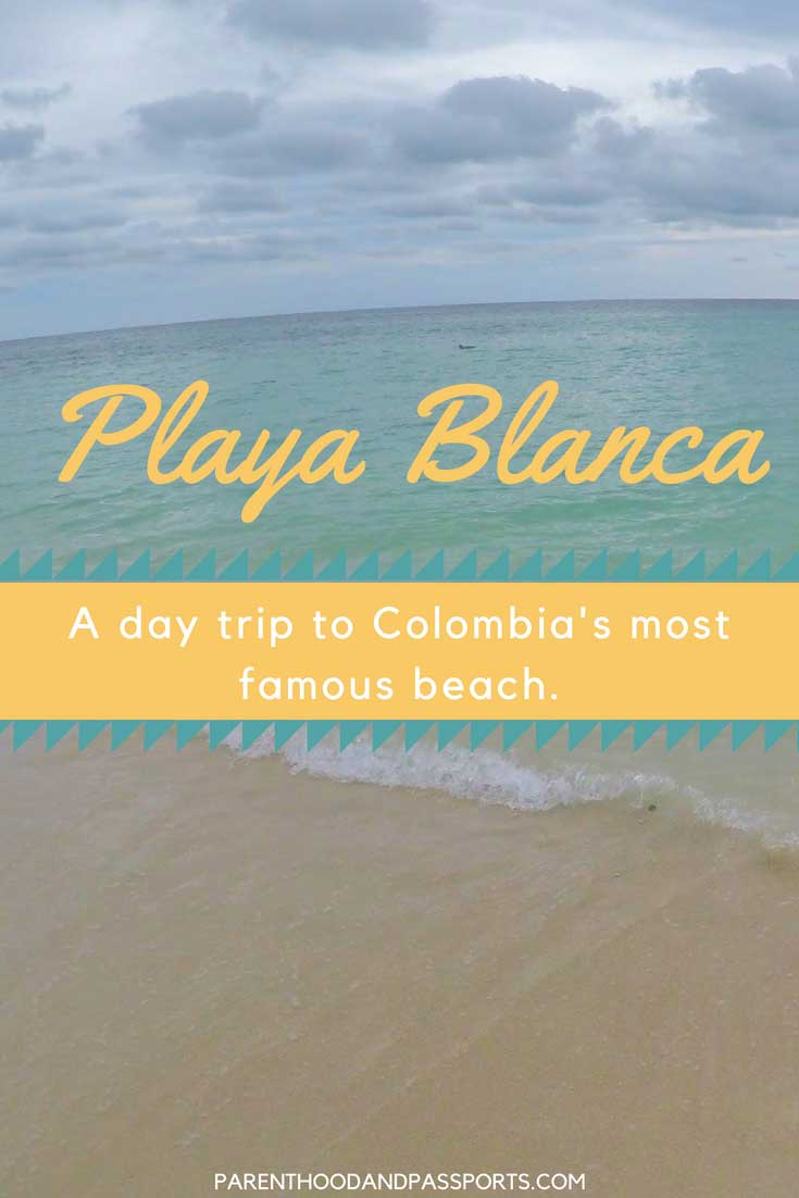 A guide to the best beach to visit on a day trip from Cartagena, Colombia. How to visit Colombia's most famous beach, Playa Blanca on Baru Island in the Rosario Islands. Plus, tips for visiting the popular public beach in South America.