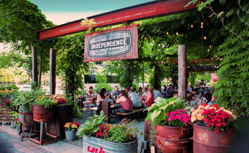 Independence beer gardens in the USA