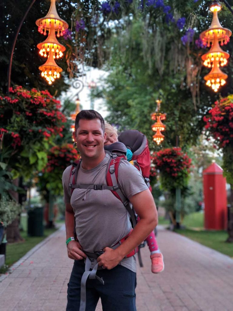 Copenhagen Tivoli Gardens with toddler