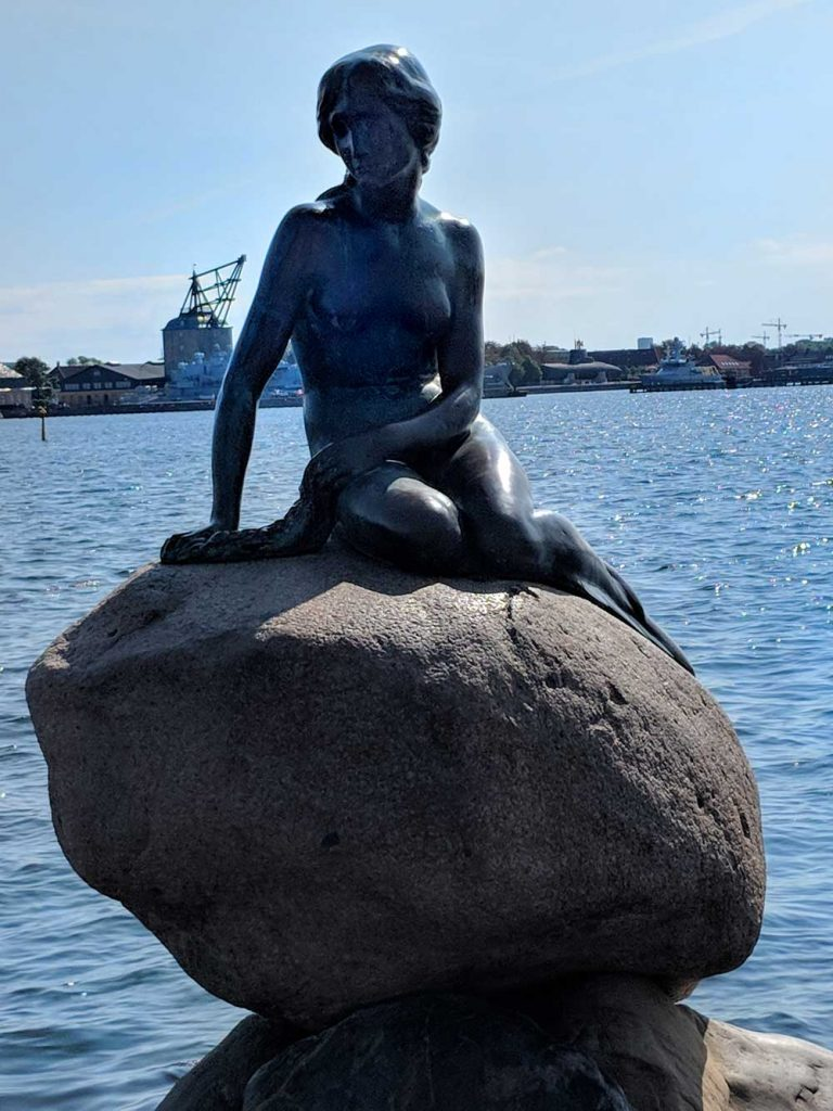 The Little Mermaid, one of Europe's most iconic statues, is also one of the most popular attractions in Copenhagen, Denmark