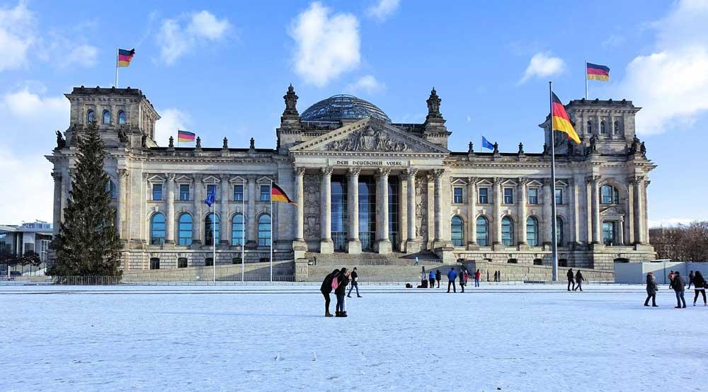 Berlin winter -snowy winter wonderlands