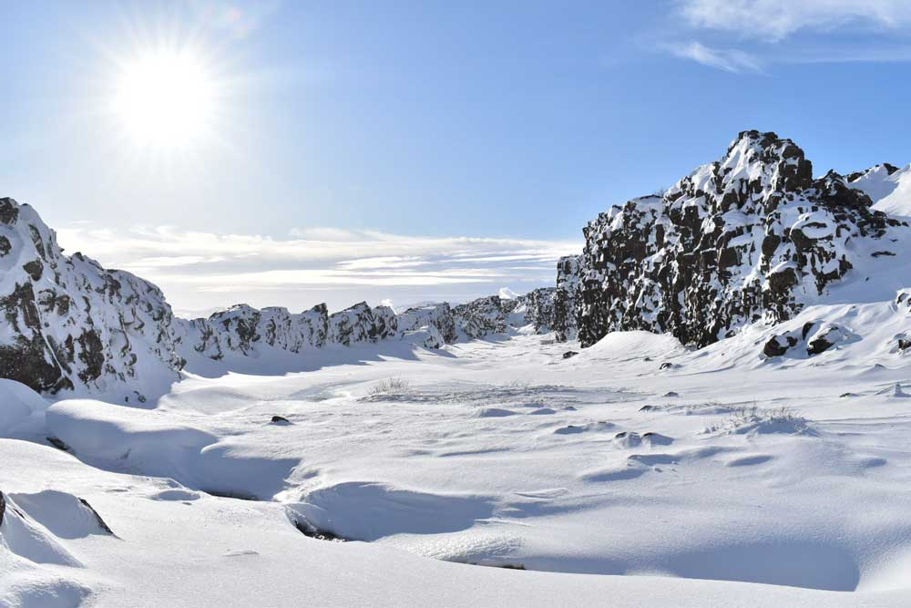 Iceland in winter - snow-covered wonderlands