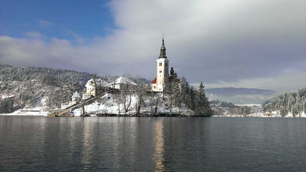 Lake Bled winter wonderland