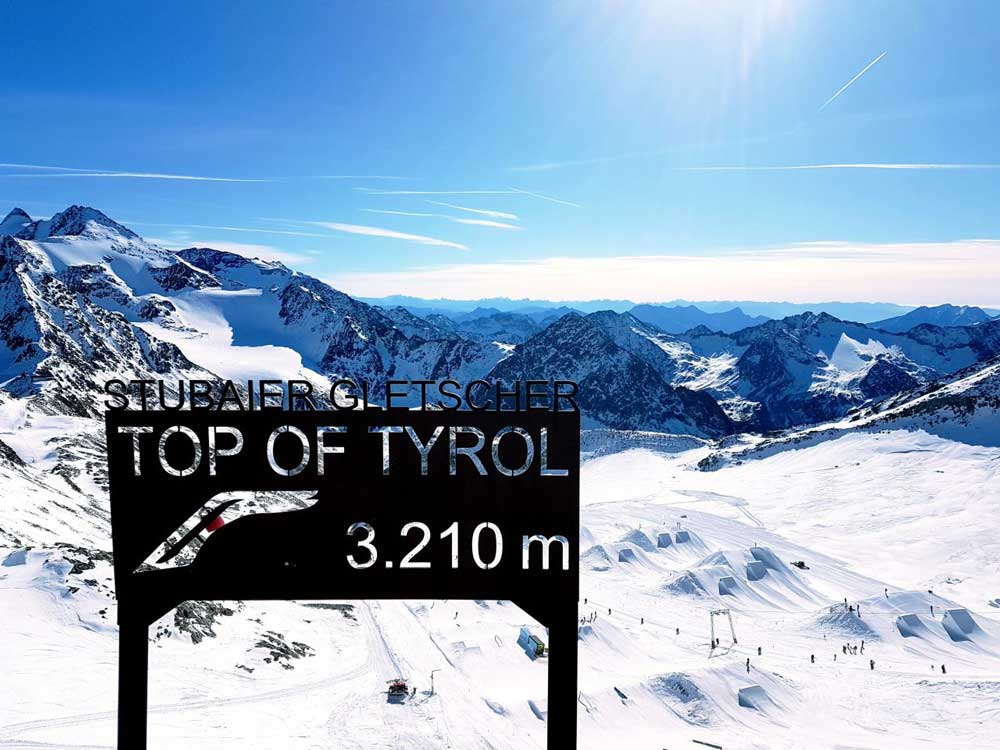 Top of Tyrol Stubai Glacier Austria winter